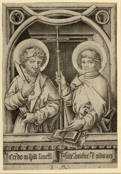 Bartholomäus und Philippus von Israhel van Meckenem