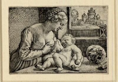 Heilige Jungfrau mit dem Totenkopf von Barthel Beham