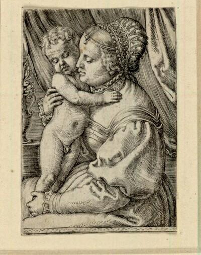 Heilige Jungfrau mit einer Blumenvase von Barthel Beham