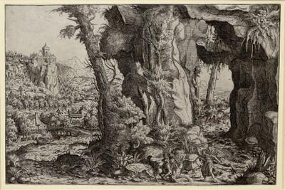 Der Engel im Kampf gegen Bileam von Hans Lautensack