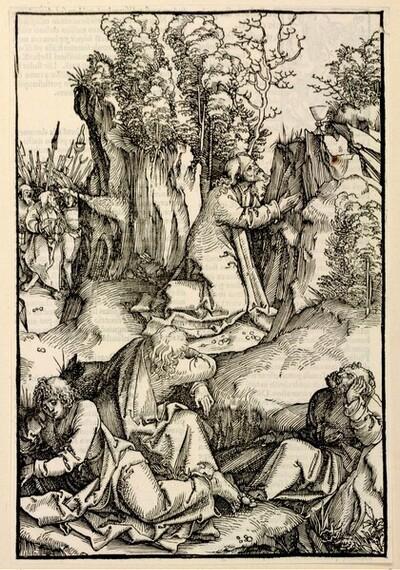 Christus im Garten von Gethsemane von Hans Schäufelin