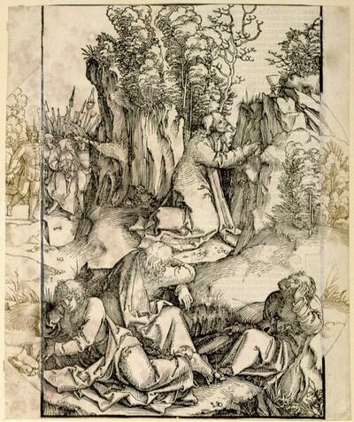 Christus im Garten von Gethsemane (Scheibenriss) von Hans Schäufelin