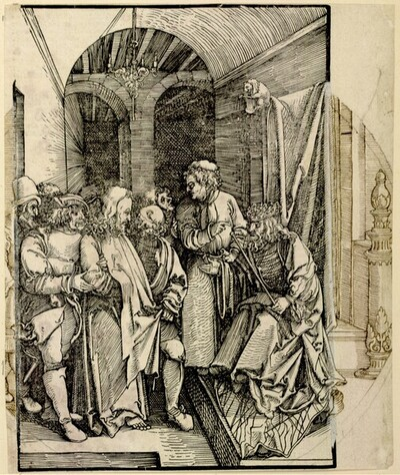Christus vor Herodes (Scheibenriss) von Hans Schäufelin
