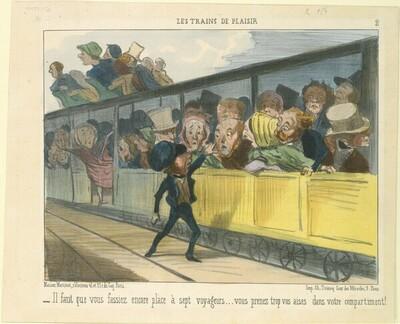 Il faut que vous fassiez encore place... von Honoré Daumier
