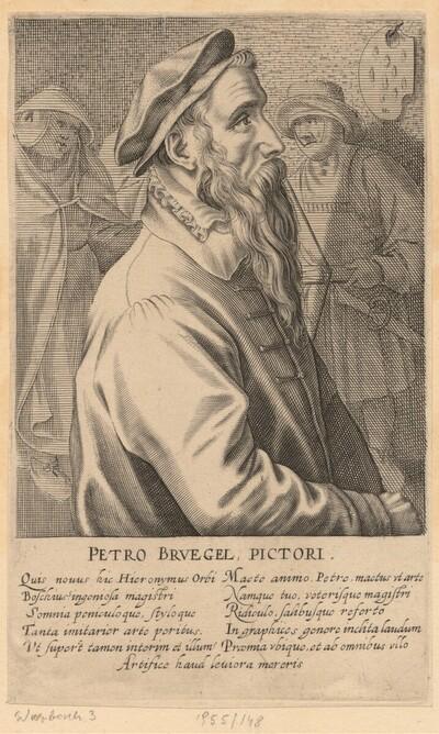 Brustbild Pieter Bruegels d.Ä. nach rechts von Jan Wierix