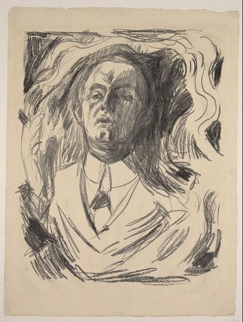Selbstporträt mit Zigarette von Edvard Munch