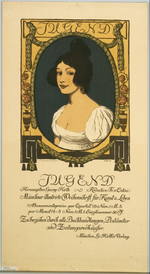 JUGEND; Herausgeber Georg Hirth; Münchner illustrirte Wochenschrift für Kunst u. Leben