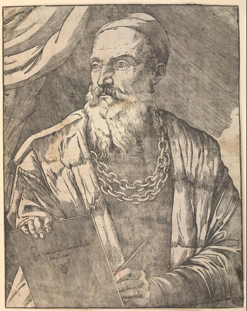 Selbstporträt Tizians von Tiziano Vecellio, gen. Tizian