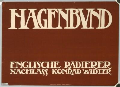 HAGENBUND; ENGLISCHE RADIERER; NACHLASS KONRAD WIDTER von Alfred Keller