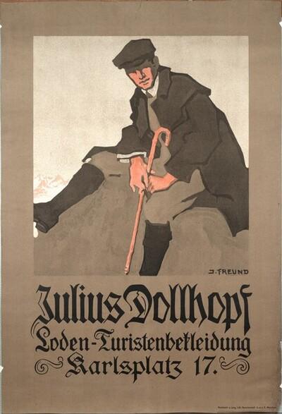 Julius Dollhopf; Loden-Turistenbekleidung; Karlsplatz 17 von Johanna Kampmann-Freund
