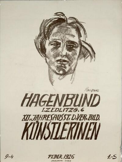 HAGENBUND; XII. JAHRESAUSST. D. VER. BILD. KÜNSTLERINEN; FEBER 1926 von Johanna Kampmann-Freund