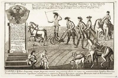 Joseph II. führt den Pflug von Anonym