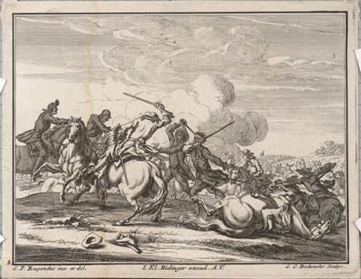 Reiter und Gefechte von Georg Conrad Bodenehr