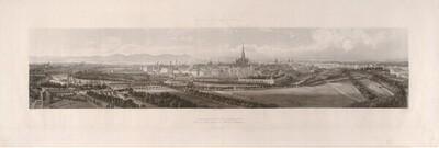 Panorama von Wien, von der Karlskirche aus gesehen von Johann Hürlimann
