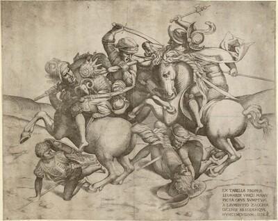 Die Schlacht von Anghiari von Lorenzo Zacchia