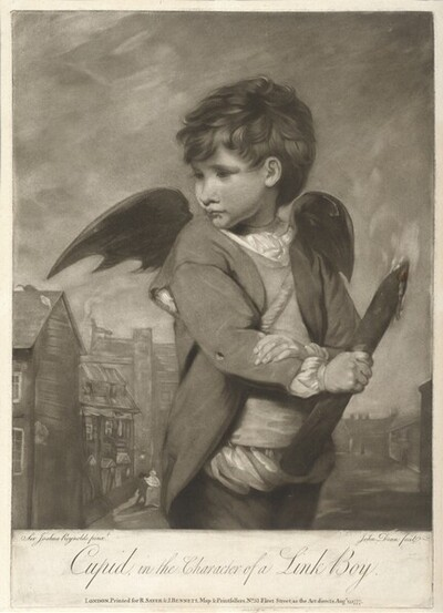 Cupid, in the Character of a Link Boy von John Dean