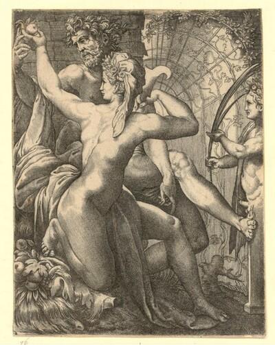 Vertumnus und Pomona von Giovanni Giacomo Caraglio