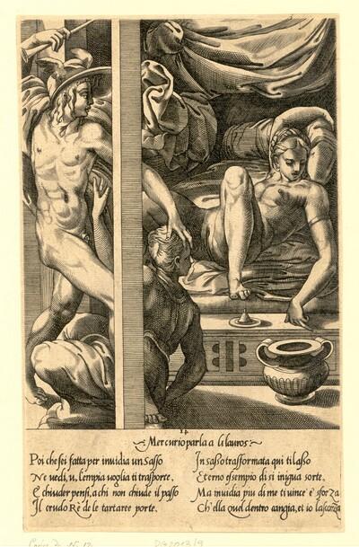 Merkur besucht Herse von Giovanni Giacomo Caraglio