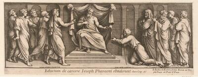 Joseph vor dem Pharao von Pietro Santo Bartoli