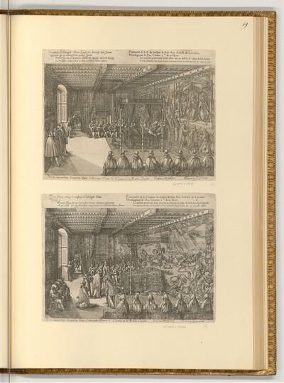 Zeremonie der Bestattung von Karl III. von Lothringen von Friedrich Brentel