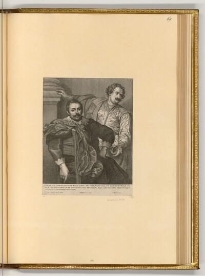 Porträt der Brüder Lucas und Cornelius de Wael von Wenzel Hollar