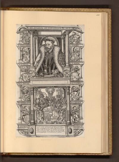 Porträt mit allegorischen Beiwerk von Monogrammist