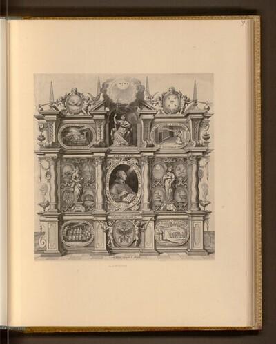 Porträt mit allegorischen und emblematischen Beiwerk von Lucas Kilian