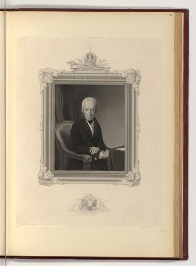 """Porträt Kaiser Franz I. von Österreich und sein Wahlspruch """"Lege et Fide"""" von Tommaso Benedetti"""