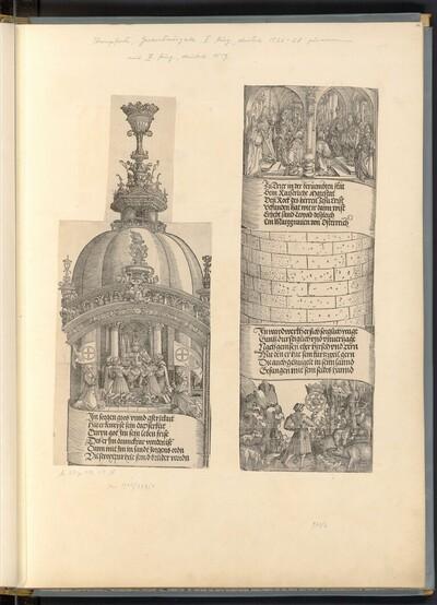 Die Ehrenpforte Kaiser Maximilians I. (Teildarstellung) von Albrecht Dürer