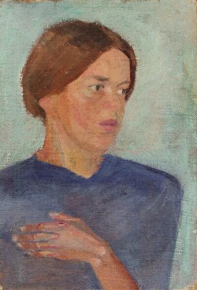 Mädchenbildnis von Franz Wiegele