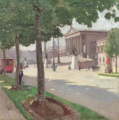 Ringstraße in Wien von Carl Moll
