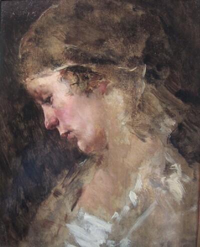 Mädchenköpferl von Fritz Rojka