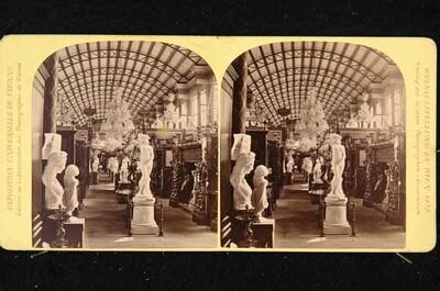 Weltausstellung in Wien 1873: Italienische Abteilung in der Nordgalerie von Wiener Photographen-Association