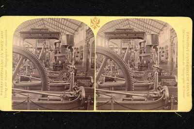 Weltausstellung in Wien 1873: Maschinenhalle, österreichische Abteilung von Wiener Photographen-Association