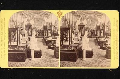 Weltausstellung in Wien 1873: Hauptgalerie, griechische Abteilung von Wiener Photographen-Association