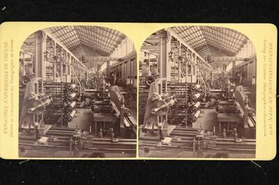 Weltausstellung in Wien 1873: Maschinenhalle, Abteilung des Deutschen Reichs von Wiener Photographen-Association