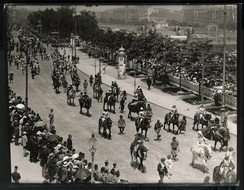 Kaiser-Huldigungs-Festzug in Wien 1908, IV. Gruppe (Turnierfest zur Zeit Kaiser Friedrichs III.) von Louis Held