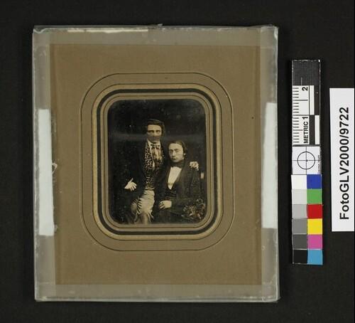 Selbstporträt mit seinem Bruder Richard Krone von Hermann Krone