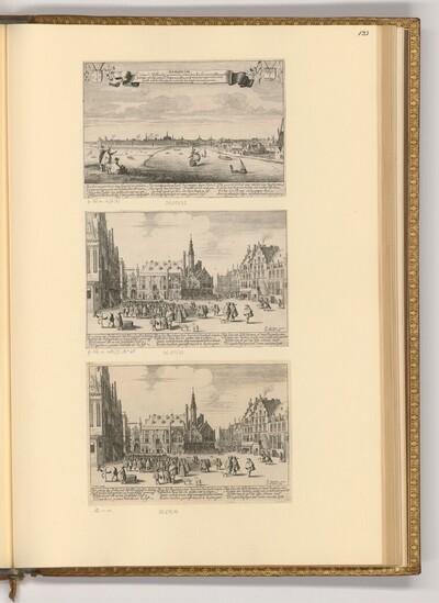 Ansicht von Haarlem; Der große Markt in Haarlem von Jan van de Velde II.