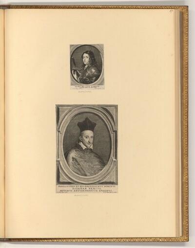 Porträts Jacques de Saint-Luc; Gaspar Nemi mit Birett von Antonie van der Does