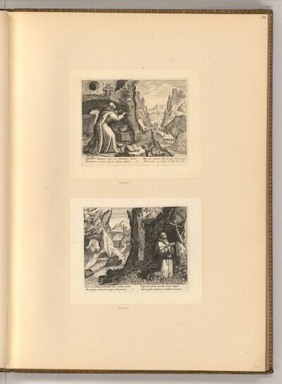 Hl. Artius; Hl. Benedikt von Johann Sadeler d. Ä.