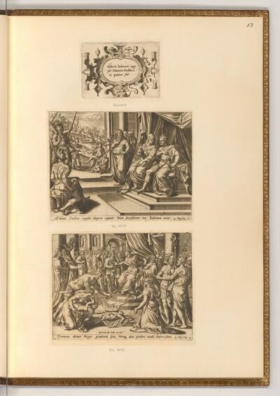 Titelblatt, Die Geschichte von Salomo von Hans Collaert d. Ä.