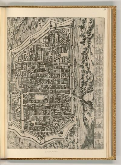 Plan der Stadt Pavia von unbestimmt