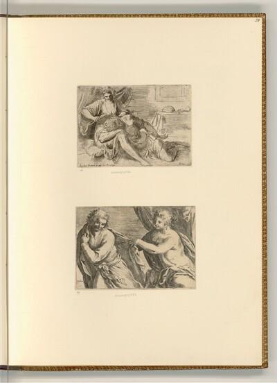 Samson und Delilah; Joseph und die Frau des Potiphar von Jacopo Palma, gen. Palma il Giovane