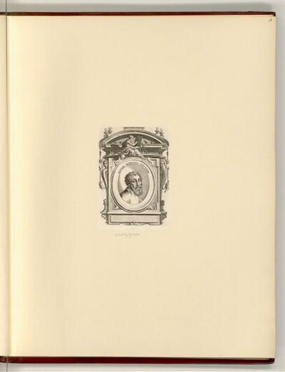 Porträt Giulio Romano in barocker Umrahmung von unbestimmt