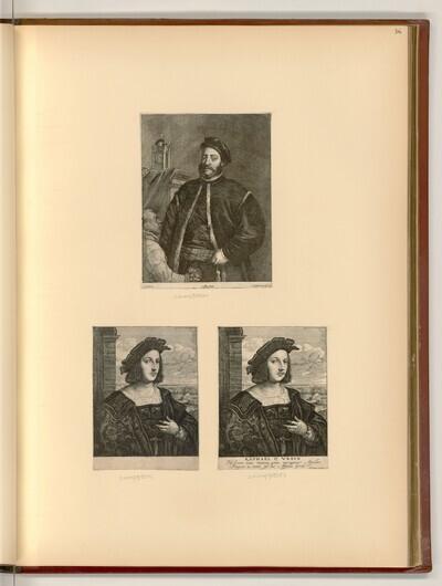 Venezianischer Bürger mit einem Dienstknaben; Porträt Raffaello Santi von Lucas Vorsterman II