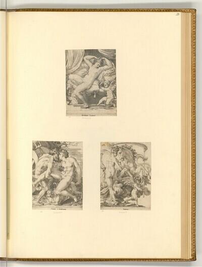 Venus und Amor; Pluto und Proserpina; Saturn und Philyra von Giovanni Giacomo Caraglio