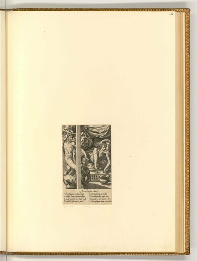 Merkur und Herse von Giovanni Giacomo Caraglio