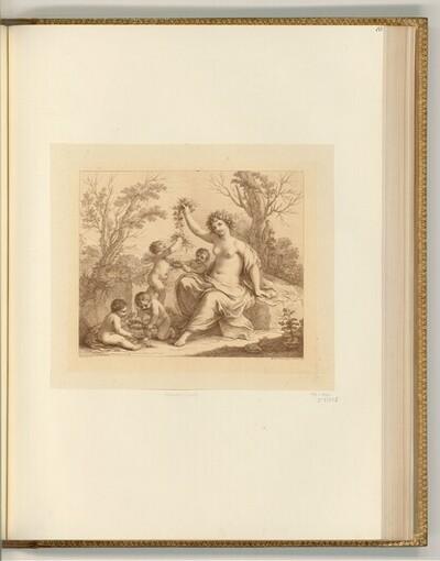 Flora mit vier Putti von Francesco Bartolozzi