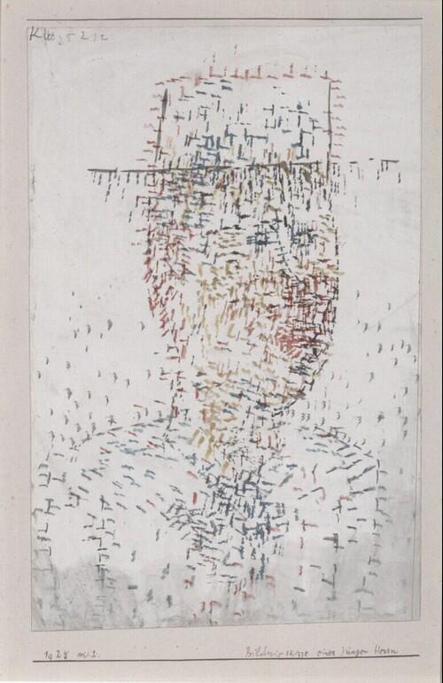 Bildnisskizze eines jungen Herrn von Paul Klee